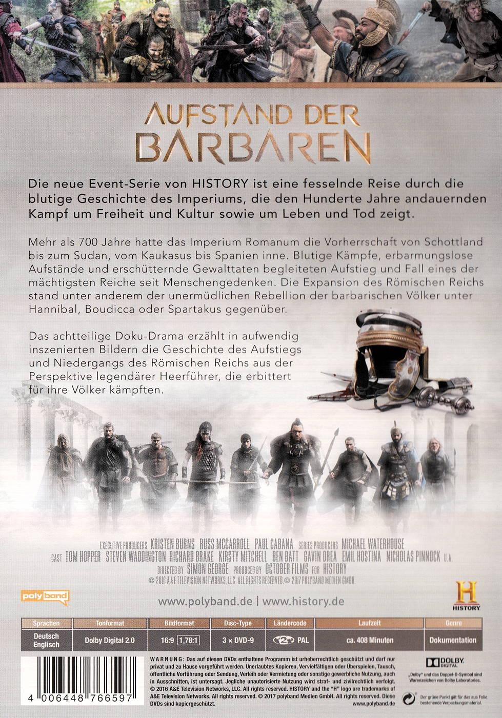 Aufstand Der Barbaren Dvd